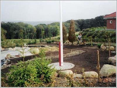 Placering af flagstang i haven